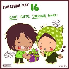 """day 16 """"give gifts, increase bond"""""""