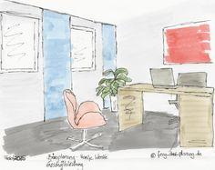 Farbgestaltung im Chefbüro