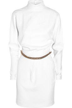 Victoria Beckham Chain-embellished crepe dress | NET-A-PORTER