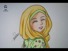 كيفية رسم انمي بالحجاب خطوة بخطوة - YouTube