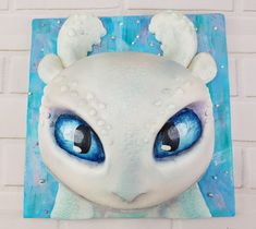 """Light fury Cake from """"How to Train Your Dragon"""" Dragon Birthday Cakes, 9th Birthday Cake, Dragon Birthday Parties, Dragon Party, Cool Birthday Cakes, Birthday Stuff, Toothless Cake, Dragon Cupcakes, Dragon Light"""