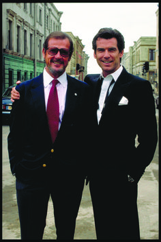 Roger Moore and Pierce Brosnan - Both played James Bond. And were best at it! Yum!