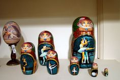 Matryoshka dolls also known as Russian nesting/nested dolls in St. Petersburg, Russia