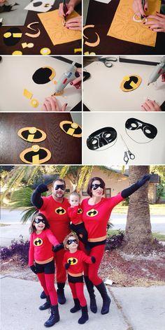 An Incredible Weekend + Easy DIY Incredibles Family Costume Costume Halloween, Carnaval Costume, Halloween 2018, Halloween Diy, Mouse Costume, Mickey Costume, Halloween Couples, Group Halloween, Incredibles Costume Diy