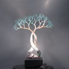 Wire Tree Of Life Soul Mates Table Lamp