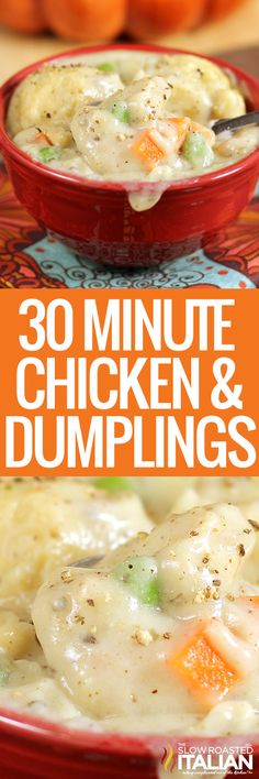 30 Minute Chicken and Dumplings Soup Recipes, Chicken Recipes, Dinner Recipes, Cooking Recipes, Easy Recipes, Quiche Recipes, Recipe Chicken, Lemon Chicken, Family Recipes