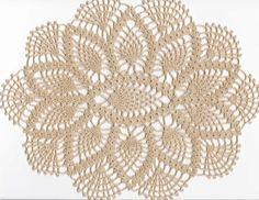 Crochet Doily Patterns, Crochet Motif, Crochet Doilies, Pineapple Crochet, Crochet Tablecloth, Beautiful Crochet, Crochet Projects, Projects To Try, Creative