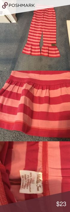 Matilda Jane pants Matilda Jane bottoms size 10. Striped pattern. Never been worn. Flows out at bottom of each leg. Waist stretches so can fit different sizes. Matilda Jane Bottoms Casual
