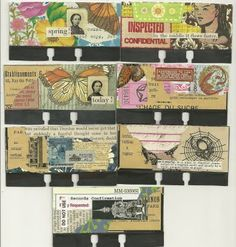 Rolodex collages by Karenann Young Cool Journals, Art Journals, Art Journal Pages, Art Pages, Altered Books, Altered Art, Old Cards, Rolodex, Collage Art Mixed Media
