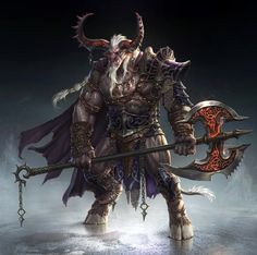 Minotaur Doombull: Charater concept art for [Project D] by Gpzang on deviantART