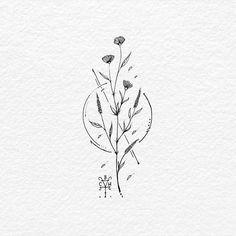 A joyful journey – A joyous journey: BACHT Drawing & Illustration, . flower drawing style - tattoo style - A joyful journey, A joyful journey: BACHT Drawing & Illustration To draw flowers - Mini Tattoos, Little Tattoos, Flower Tattoos, Body Art Tattoos, Tattoo Drawings, Small Tattoos, Sleeve Tattoos, Tatoos, Diy Tattoo