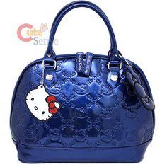 0ac0ae94ee Hello Kitty metallic blue embossed handbag Hello Kitty Handbags
