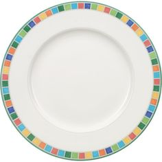 VILLEROY & BOCH Twist Alea Caro flat plate 27cm ($31) ❤ liked on Polyvore featuring home, kitchen & dining, dinnerware, colorful dinnerware, villeroy boch plate, colorful plates, porcelain plates and multi colored dinnerware