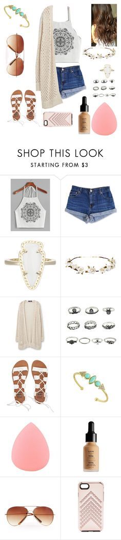 """Untitled #59"" by ajgswim on Polyvore featuring Levi's, Kendra Scott, Cult Gaia, Violeta by Mango, Billabong, Zodaca, NYX, MANGO and Rebecca Minkoff"