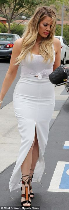 Fitted: She showed off her toned physique with a fitted ensemble...