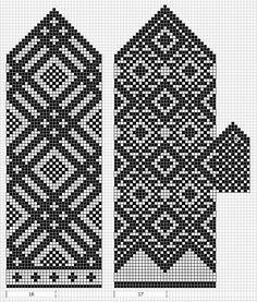 Intarsia Patterns, Fair Isle Knitting Patterns, Knitting Charts, Weaving Patterns, Knitting Stitches, Knitted Mittens Pattern, Knit Mittens, Knitting Socks, Hand Knitting