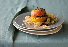 Gewürz-Bratapfel mit Knusper Couscous