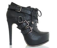 Fiebiger Madame Deluxe Bootie Heels - Black
