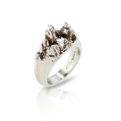 Under Earth Half Texture Ring by Niza Huang Jewellery on CROWDY HOUSE