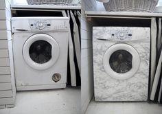 DIY: Tvättmaskin i marmor | Underbara saker #dekorplast# Washing Machine, Home Appliances, Diy, Home Decor, Inspiration, Marble, House Appliances, Biblical Inspiration, Bricolage