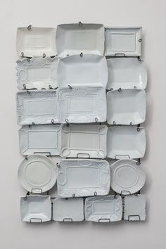 Ann Agee. White Cloud #2, 2012 glazed porcelain, steel armature 62 1/2 x 41 x 7 inches