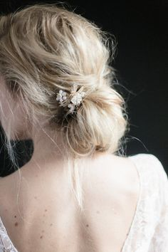 Simple Messy Bridal Hair Inspiration — Irrelephant