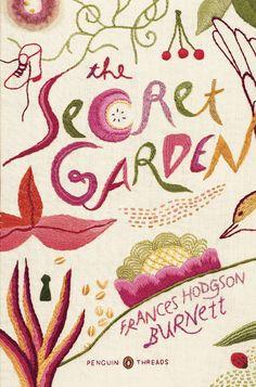 Pingüinos portadas de libros cosidos a mano, el jardín secreto.