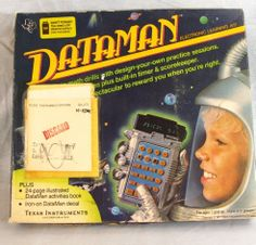 Dataman Vintage Texas Instruments 1977 Ti Includes Book Box Electronic Data Man