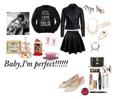 """Baby I'm perfect!!!!"" by minadinamike on Polyvore featuring New Look, Topshop, Forever 21, Sam Edelman, Gucci, ALDO, Valentino, Clarins, NYX and Stila"