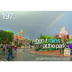 Best. Day. Of. My. Life. It rained in Disneyland, and we had that and California Adventure almost to ourselves. We walked right on to Tower of Terror 3 times.
