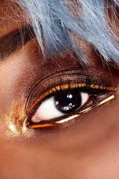 4 Beauty Looks Guaranteed To Inspire #refinery29  http://www.refinery29.com/beauty-rules-for-eye-makeup#slide-5  This might be intimidating at first, but there are plenty of takeaways for IRL makeup application. After creating a warm smoky eye with shimmery brown shadows, Anthony added an eye-catching pop of gold to the inner corners. He then placed the strips of foil paper as close to the lashline as possible (without actually touching them to the lashes), securing the strips with clear…