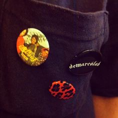 DeMarcoLab exclusive buttons/pins, now you can get it only in @lab_taipei (at LAB)