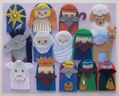 Biblical Felt Characters | The First Christmas Finger Puppets by dolllady237 on Etsy
