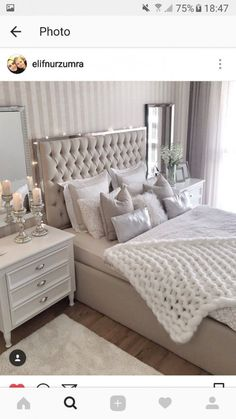 Cozy Home Decorating Ideas for Girls Bedroom – Isabelle Style – Shannon – Elegant Stylish Bedroom, Cozy Bedroom, Home Decor Bedroom, Modern Bedroom, Girls Bedroom, Bedroom Romantic, Mirror Bedroom, Bedroom Furniture, Taupe Bedroom