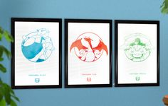 Got my Pokemon 20th Anniversary posters framed up!