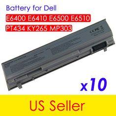 10  Battery For Dell Latitude E6400 E6410 E6500 E6510 PT434 FU268 FU274 Laptop