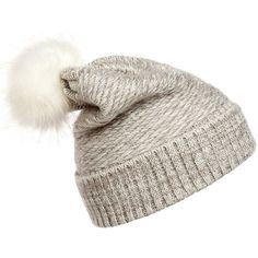 Winter Knit Beanie Hat (160 ZAR) ❤ liked on Polyvore featuring accessories, hats, toca, beanie hat, knit beanie, knit beanie caps, beanie caps and knit cap beanie