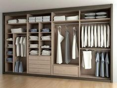00 21 Crafty Closet Organization Ideas that We Have Ever Seen! This list of closet organization ideas is essentials for you. organizing a closet can seem like a handful task that no one ever sees. Wardrobe Design Bedroom, Master Bedroom Closet, Bedroom Wardrobe, Wardrobe Closet, Build In Wardrobe, Closet Wall, Build A Closet, Wardrobe Storage, Bedroom Cupboard Designs