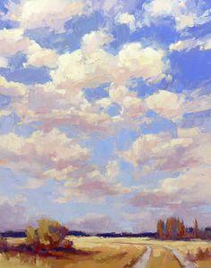 David Mensing Fine Art  Wonderful skies and clouds.
