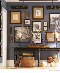 Cheap and Easy DIY Wall Decorating • Tips & Ideas!  Wall color for BR, candleholders for entertainment center