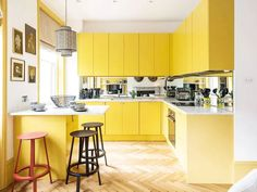 The Best 16 Yellow Paint Colors to Bring Brightness to Your Home Yellow Painted Rooms, Yellow Paint Colors, Yellow Painting, Big Pops, Room Paint, Color Pop, Designers, Wallpaper, Interior