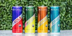 ORGANICS by Red Bull is a new line of organic sodas. The brand says that the sodas are made with natural flavors from plant extracts and are not an energy drink. Red Bull Drinks, Bitter Lemon, San Diego Restaurants, Grape Soda, Tonic Water, Ginger Ale, Natural Flavors, Energy Drinks, Organic