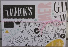 Thank You Card Blank Notecard Set w/Envelopes by 19Designs on Etsy
