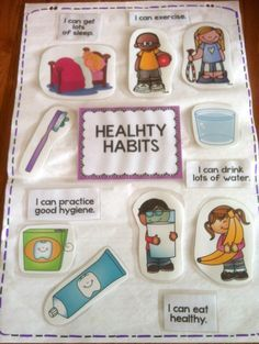 Healthy habits anchor chart and mini-accordion book to teach students some healt… - Alles über Mundpflege 2020 Healthy Habits For Kids, Healthy Choices, Stay Healthy, Healthy Snacks, Keeping Healthy, Healthy Fruits, Healthy Living, Healthy Recipes, Health Eating