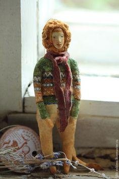 Купить Ватная игрушка на ёлку Лев - Новый Год, елочные игрушки, винтаж, дети