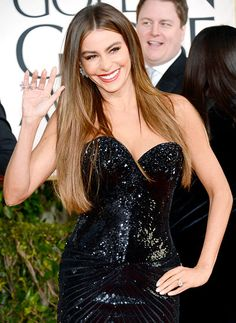 Sofia Vergara sizzled on the red carpet at the Golden Globe Awards in Beverly Hills Jan. 13.