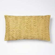 Beaded Waves Pillow Cover - Horseradish #westelm