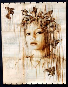 Portraits painted with coffee by Michael Aaron Williams-nishblog.com