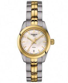 b39db95d7e6 Tissot Women s Swiss T-Classic Pr 100 Two-Tone Stainless Steel Bracelet  Watch 25mm