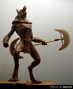 Polymer clay statue #ANUBIS #Mythology, #Egypt